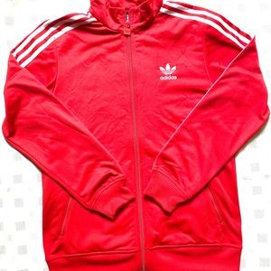 Very Nice Red Youth Adidas Track Jacket Large